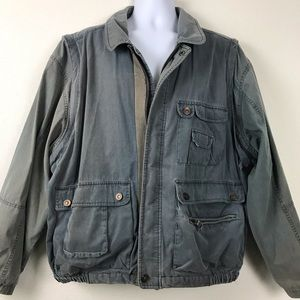 Street Style Grunge Military Bomber Jacket Retro